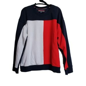 TOMMY HILFIGER Unisex Sweatshirt Navy Red White XL